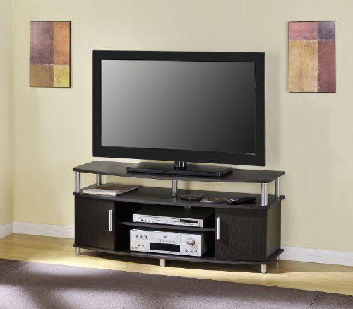 altra furniture carson tv stand for tvu0027s up to 50inches espresso new altra