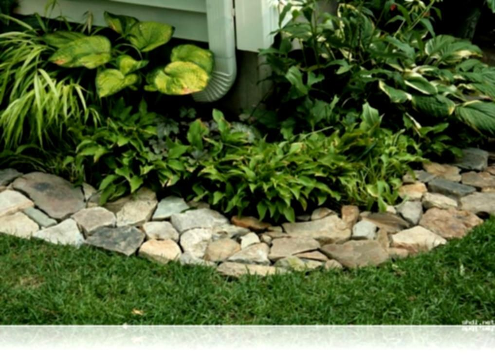 Ideas bamboo garden border bed edging landscaping stone for Natural pond edging ideas