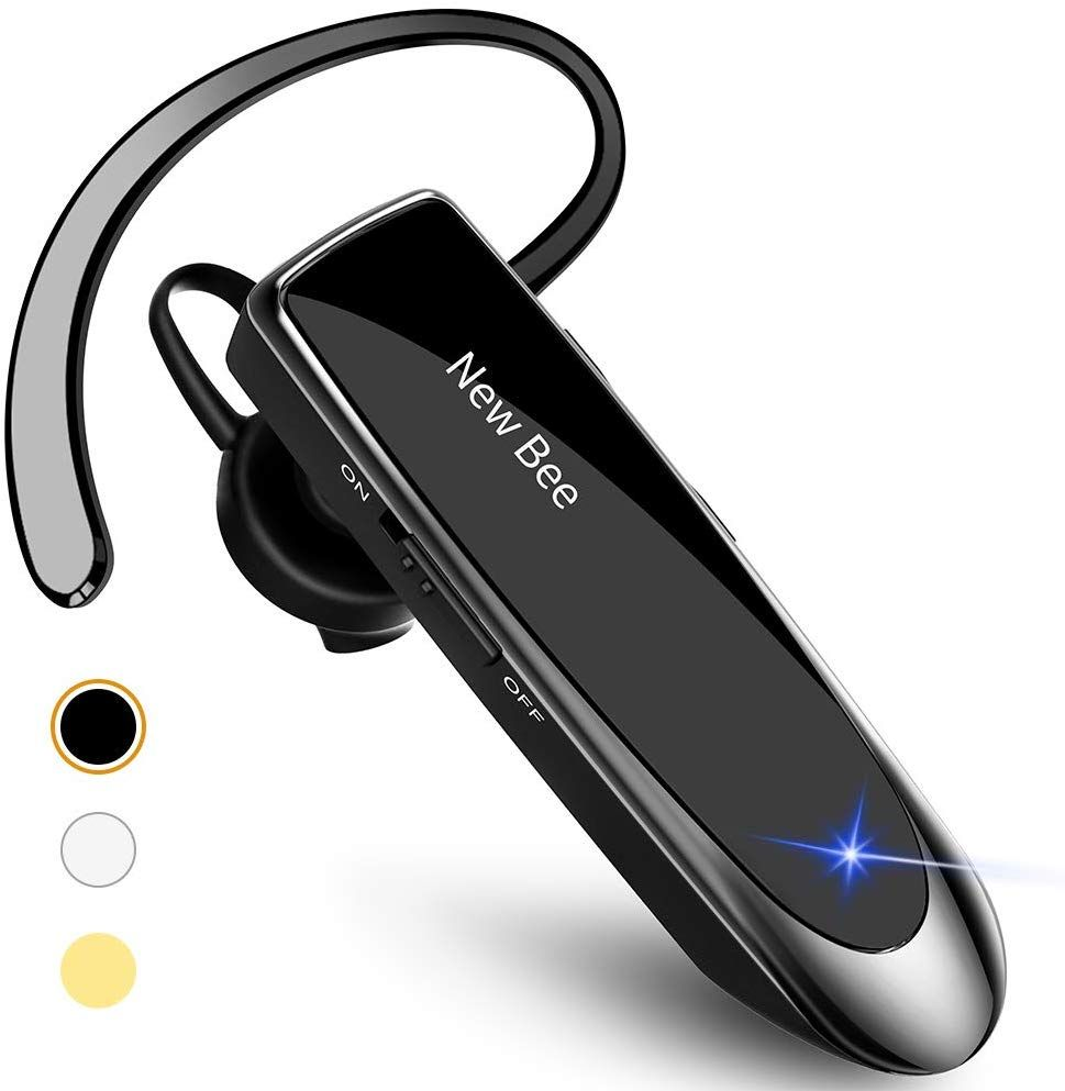 New Bee Bluetooth Earpiece V5 0 Wireless Handsfree Headset 24 Hrs Driving Headset In 2020 Bluetooth Earpiece Cell Phone Headset Samsung Laptop