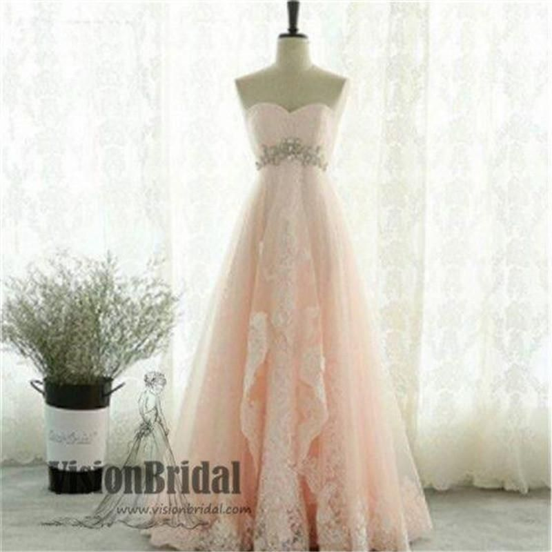 2018 Newest Sweetheart Long A-Line Prom Dresses With