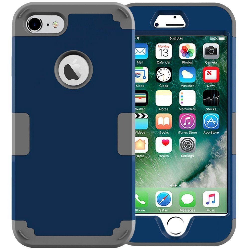 iPhone 7 Case,JDBRUIAN 3in1 Shield Series Heavy Duty