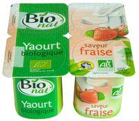 Yaourt aromatisé à la fraise Bio nat'