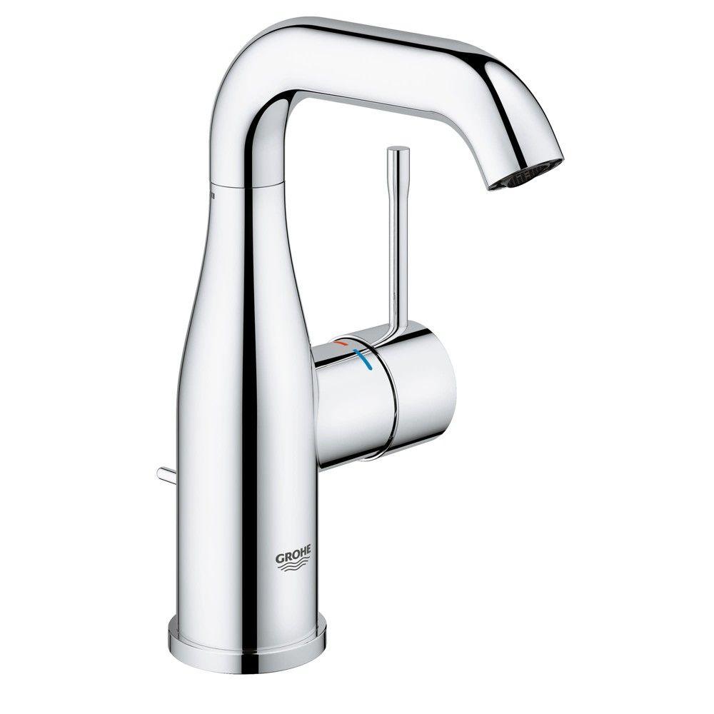 Grohe America Inc 23 485 A Essence Single Hole Bathroom Faucet Starlight Chrome In 2019 Single Handle Bathroom Faucet Bathroom Faucets Bathroom Taps