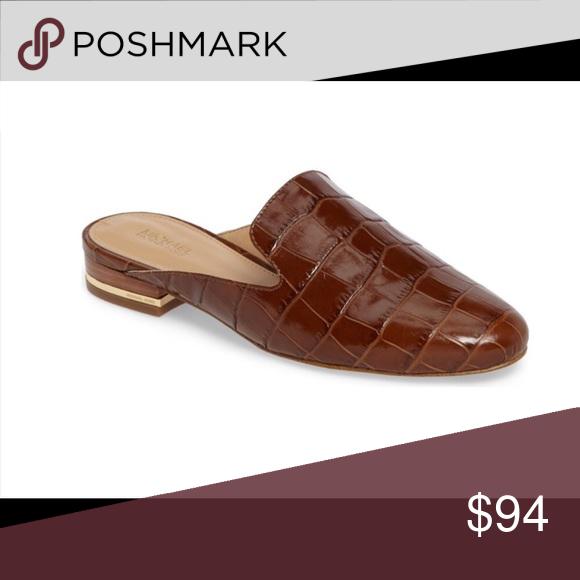 MICHAEL KORS Sz 7 Brown Croc Leather