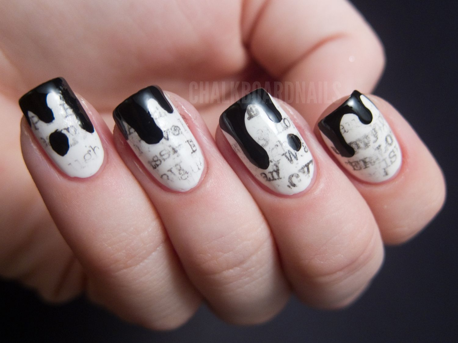 The New Black Typography Set - Daily News | Manicure