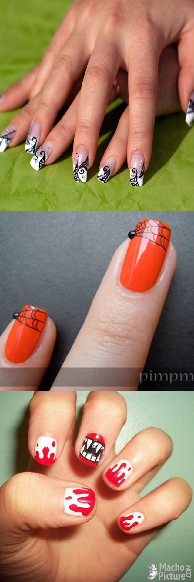 Easy Halloween Nail Art Places To Visit Pinterest Easy