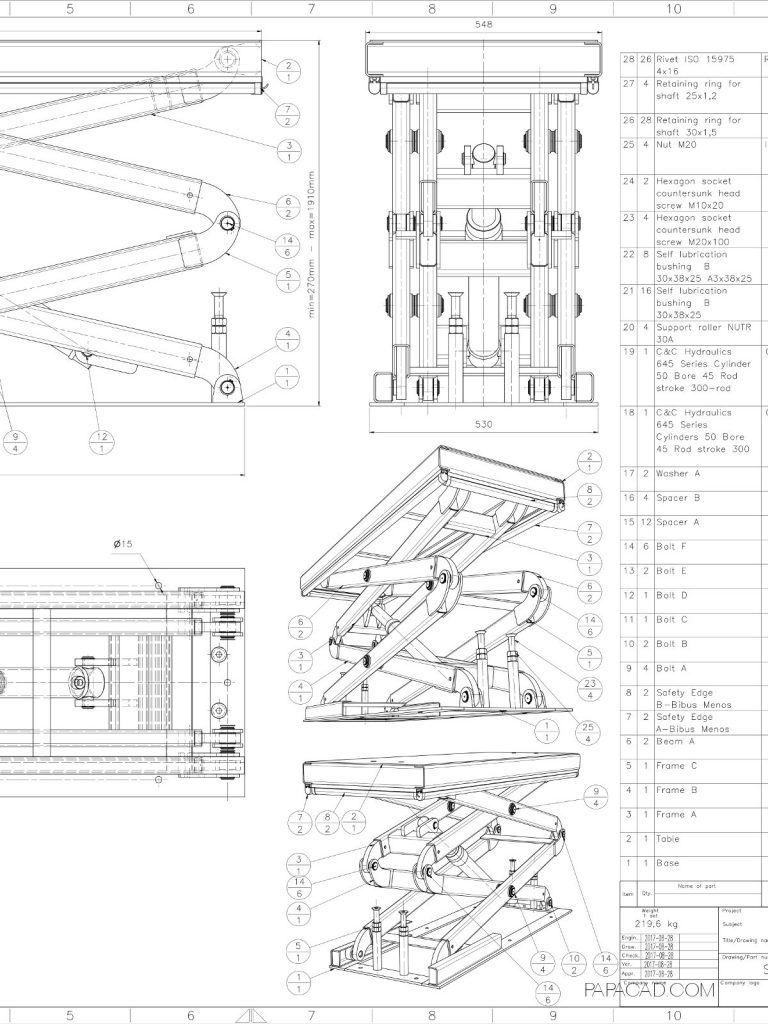 Scissor lift table plans - DIY Scissor lift table | home shop