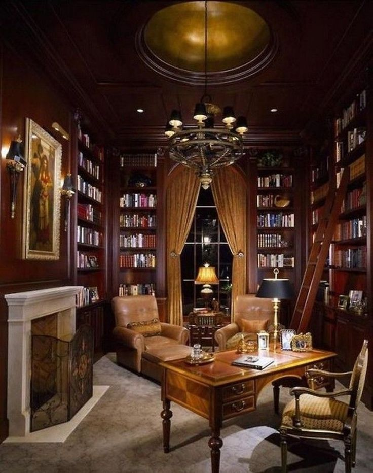 Luxury Home Library Design: 30+ Magnificient Home Design Ideas With Library You Should