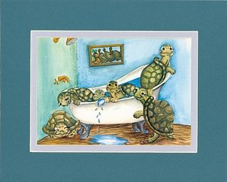 Sea Turtle Bathroom Accessories | Enjoy Some Fun Turtle Art In Your Bathroom  Six Happy Turtles