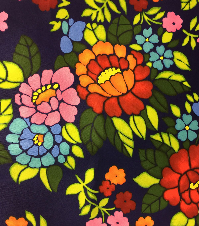 Outdoor Fabric-Oversize Floral Navy | Cerámica y Arte