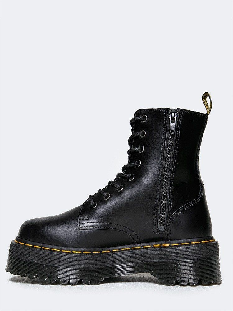 7d95f935f0922 Take on the day with classic Doc Martens! - This quality black ankle boot