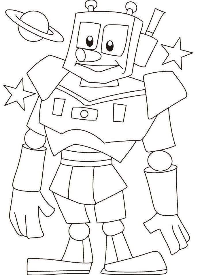 Cute Robot Coloring Pages