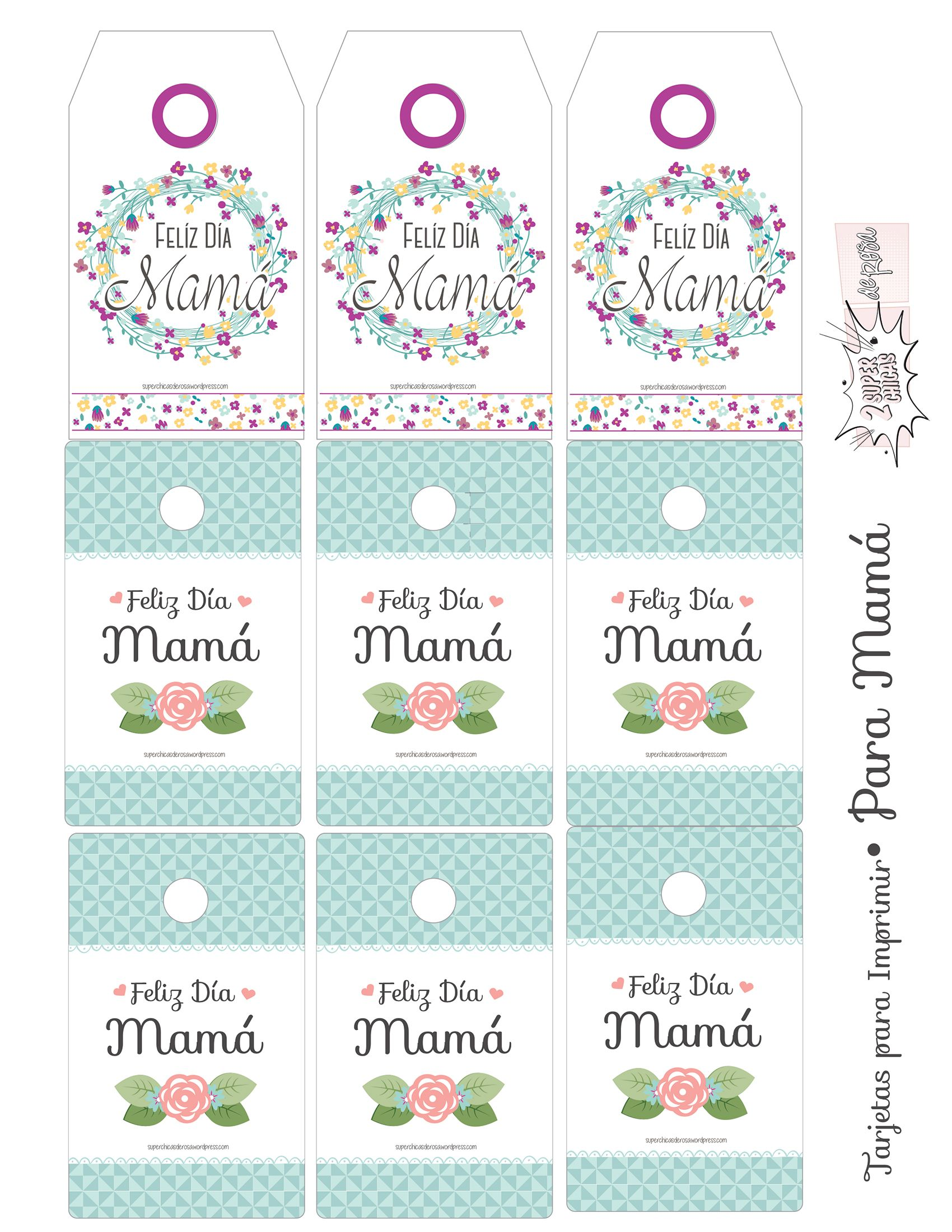 Tarjetas para Imprimir Día de las Madres Imrpimibles Pinterest Scrap, Scrapbook and