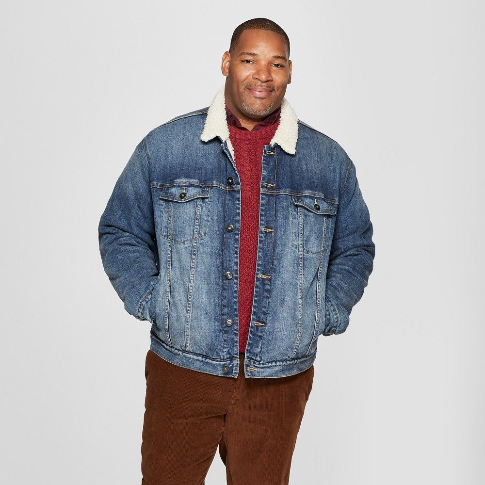 Men S Big Tall Shrepa Trucker Denim Jacket Goodfellow Co Blue 4xb Denim Jacket Jean Jacket Design Jean Jacket Men [ 1000 x 1000 Pixel ]