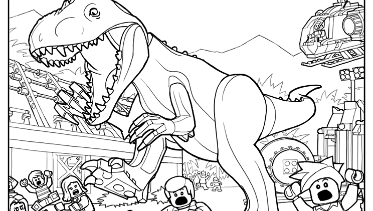 Lego Coloring Page 3 Lego Coloring Sheets Dinosaurier