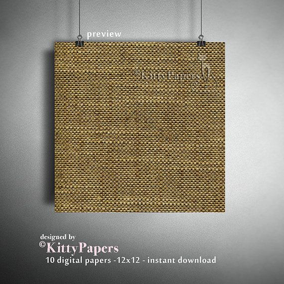 Burlap digital paper : Autumn Burlap linen burlap by kittypapers