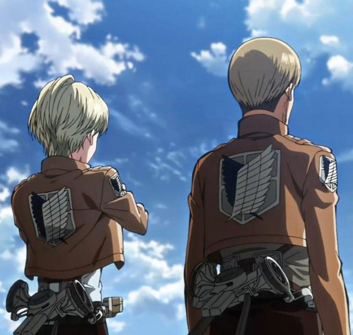 Attack of Titan nanaba & mike | Attack on titan anime ...