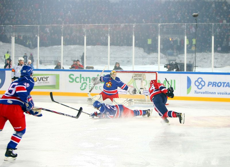 Granlund With The Snipe During An Outdoor Game In Helsinki