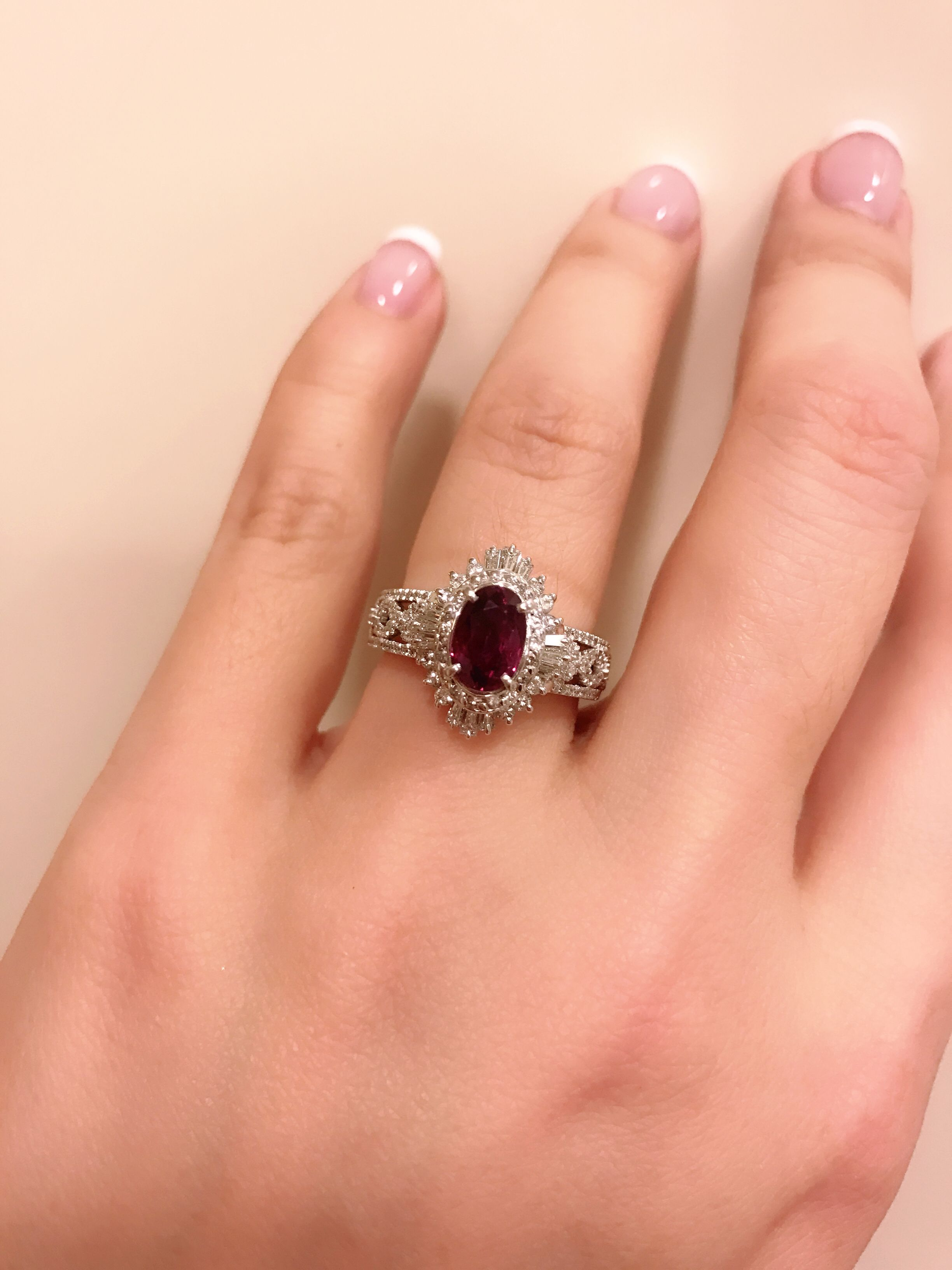natural item b platinum ruby mcteigue rings ring diamond mcclelland engagement lotus