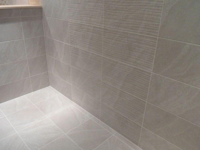 1m U00b2 Of 25x50cm Ditto Light Grey Bathroom Ceramic Wall Tiles Ebay Grey Wall Tiles Bathroom Wall Tile Small Bathroom Decor