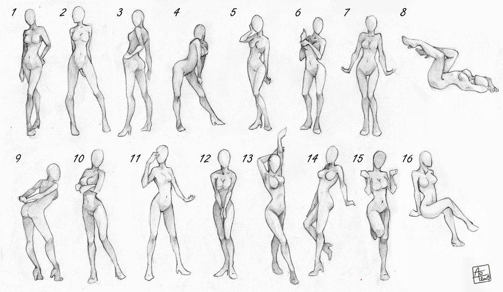 dessin manga position