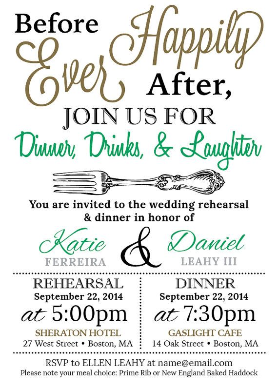 5x7 customized wedding rehearsal dinner invitation digital file