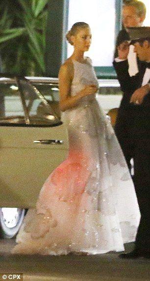 italian heiress wears pink to wed monaco royal pierre