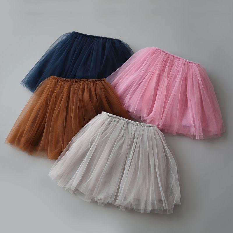 0cd8eca4fe 2017 Tutu Skirts For Girls Skirt Kids Princess Tulle Skirts Lovely Ball Gown  Pettiskirt Children Clothing Baby Clothes