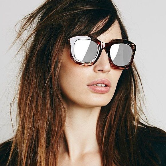 ❤️BOGO❤️New Free People Brown Striped Square New without tag. All sunglasses buy one get one free! Any style equivalent or less value! Mix & match! Free People Accessories Sunglasses