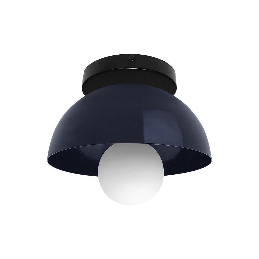 Outdoor Lightingdesign Ideas: Nickel And Orange Hemi Modern Flush Mount 8