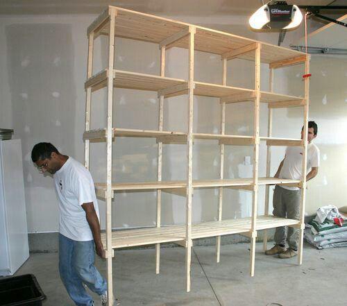 Wooden Storage Shelves, Garage Storage
