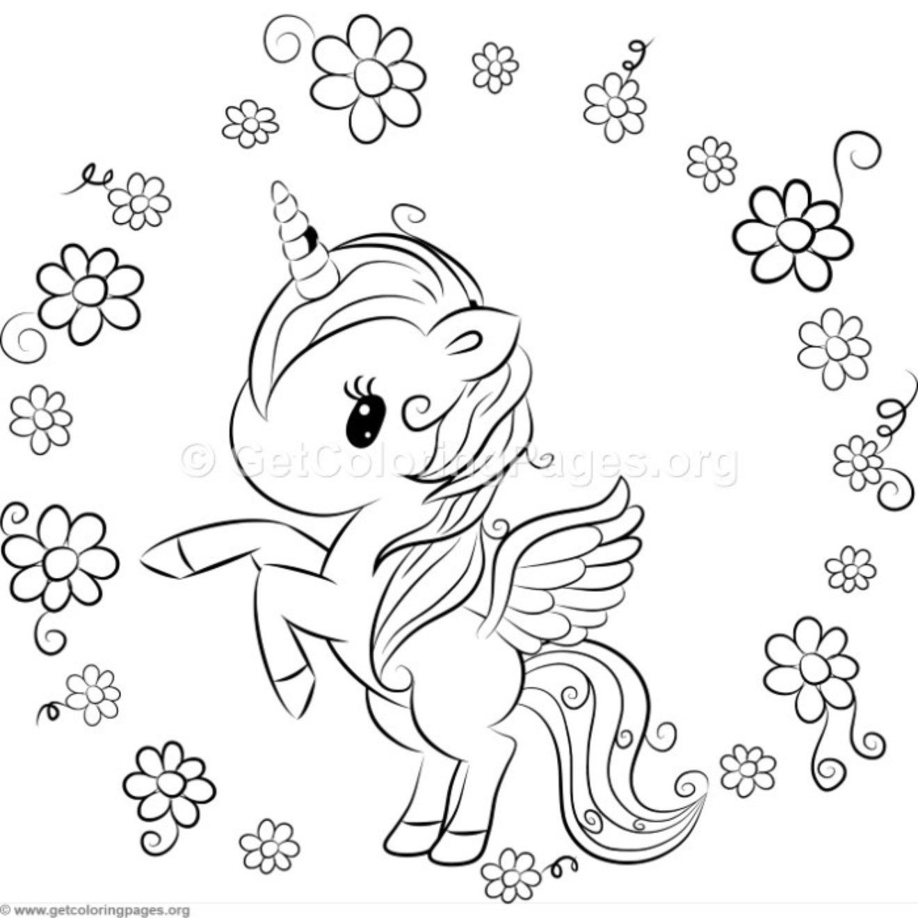 Cute Unicorn 9 Coloring Pages Getcoloringpages