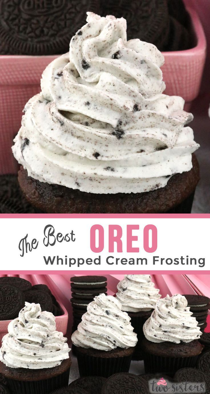 The Best Oreo Whipped Cream Frosting - Two Sisters