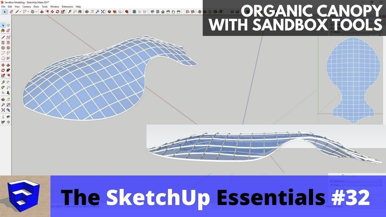 Creating An Organic Canopy With Sandbox Tools In Sketchup The