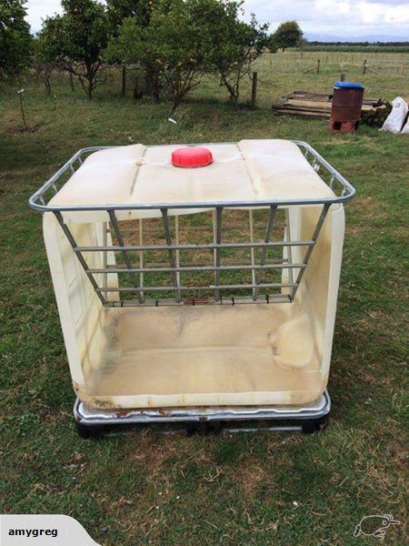Hay Rack Made From Used Ibc S Perfect For Calves Goats