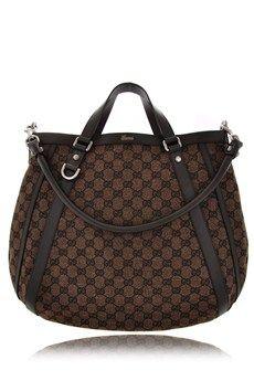 GUCCI GG Brown Canvas Shoulder Bag   Gucci handbags outlet. Designer bags outlet. Bags