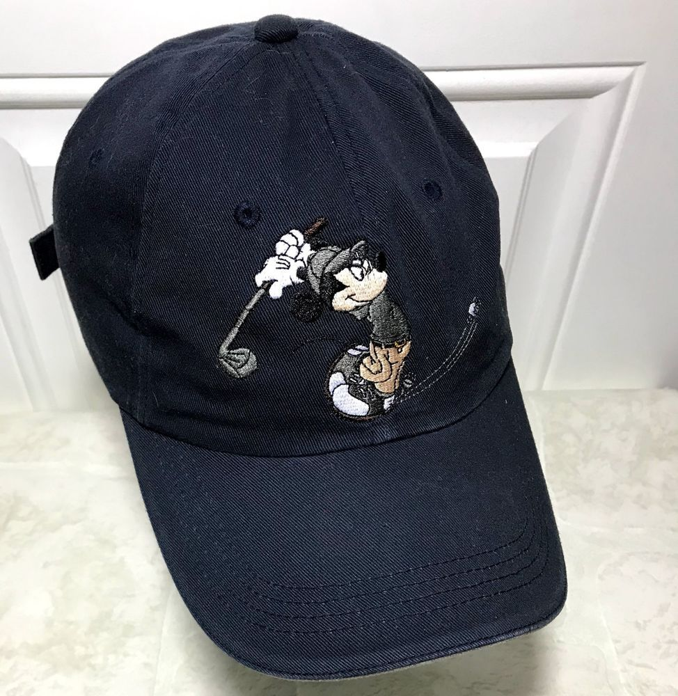 Vintage Disney Golf Collection Hat Mickey Mouse Embroidered Strapback Cap  Blue  Disney  mickeymouse  golf 6565dcc8cdc