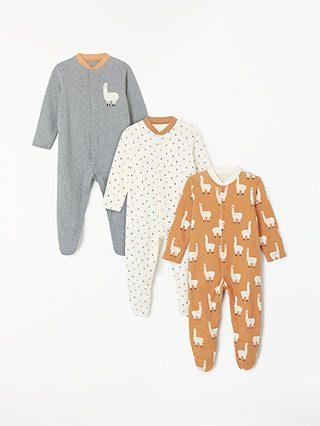 d4a87097883b BuyJohn Lewis   Partners Baby Long Sleeve GOTS Organic Cotton Llama ...