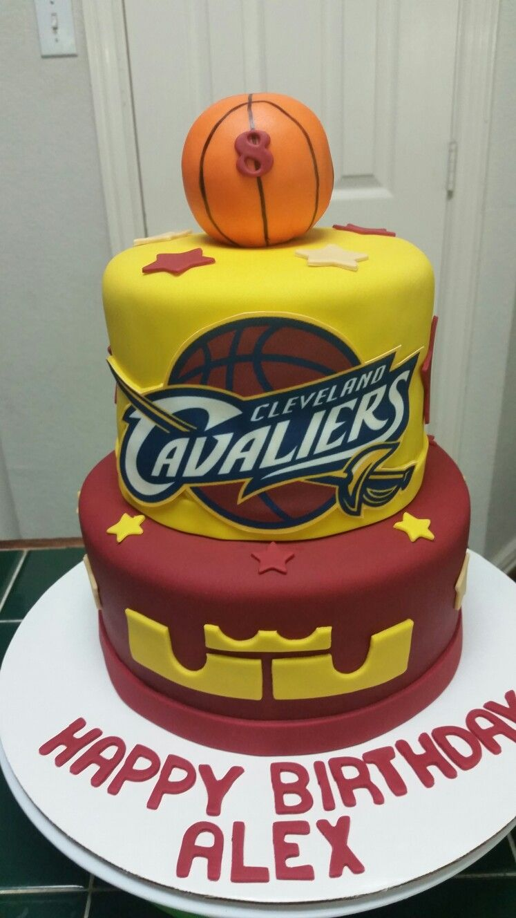 Cavaliers Basketball Cake With Images Basketball Cake Lebron