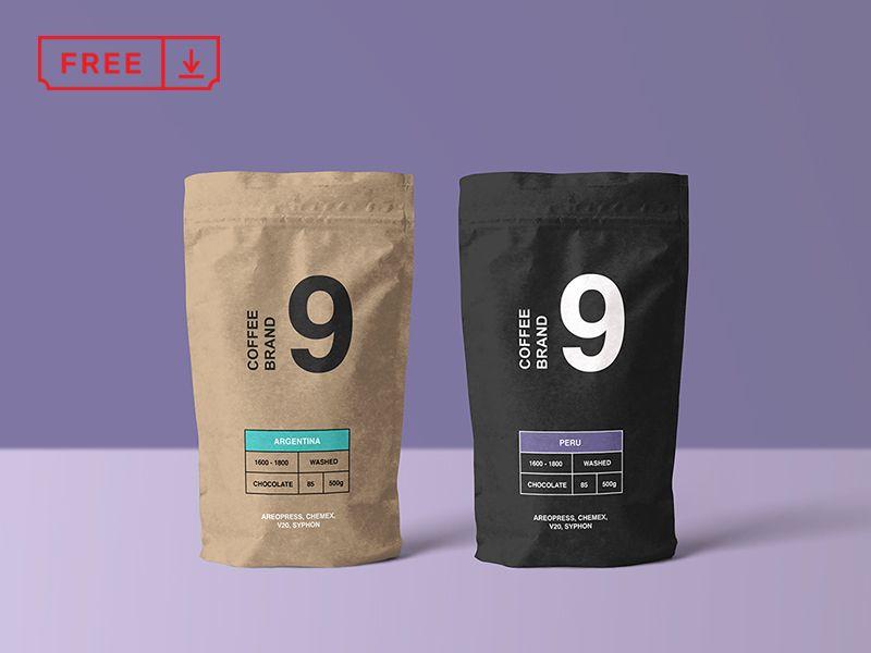 Download Paper Coffee Bag Mockup Coffee Bag Design Free Coffee Coffee Packaging