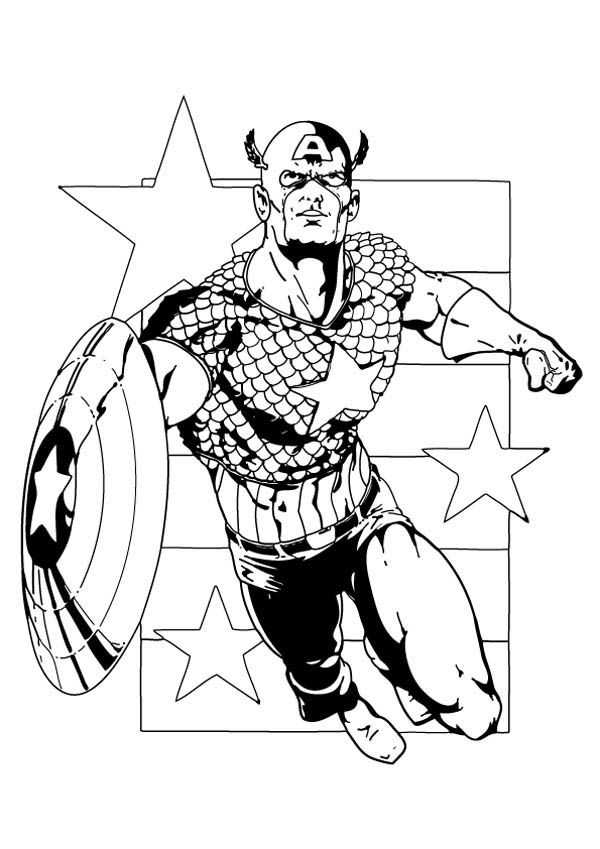 The First Avengers Captain America Coloring Page ...