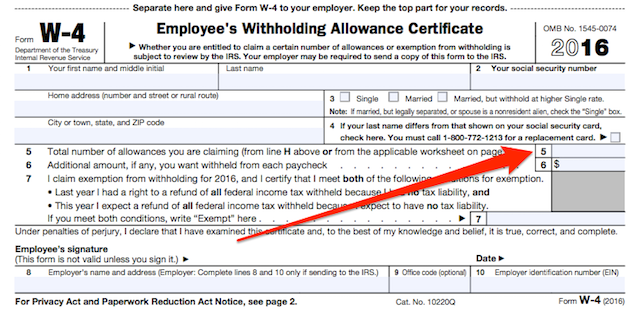 Out Your Form W-4: How Many Allowances Should You Claim?