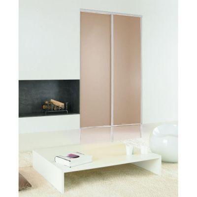Porte coulissante mélaminé couleur beige-rose Porte coulissante