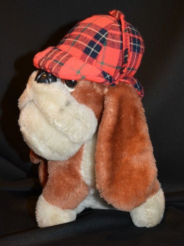 Dakin Stuffed Animal Basset Hound Dog Plush Sherlock Holmes 11in