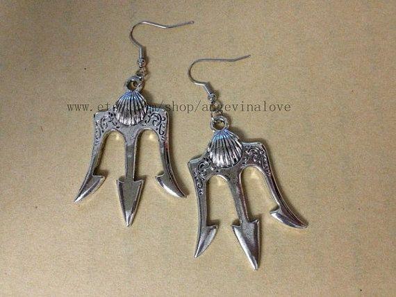 Poseidon  Percy Jackson Lightning Thief earrings  . It's truuuuuue looooooove, truuuuuuue loooooove!