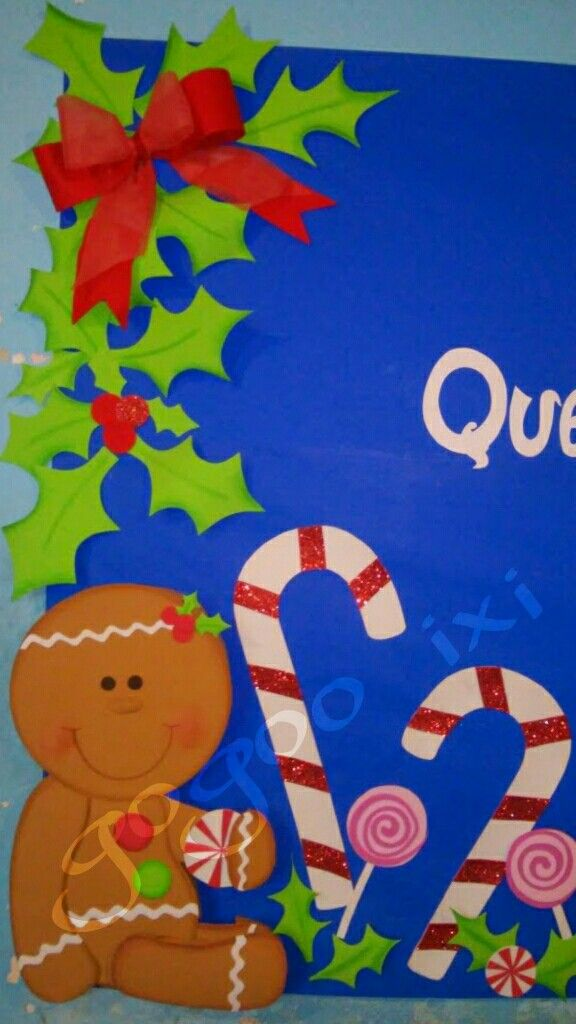Detalle mural navide o mis trabajos murales de navidad for Puertas decoradas de navidad para preescolar