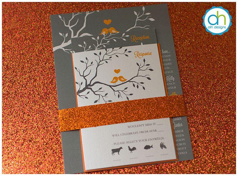 wedding invitations autumn theme  invitation, invitation samples