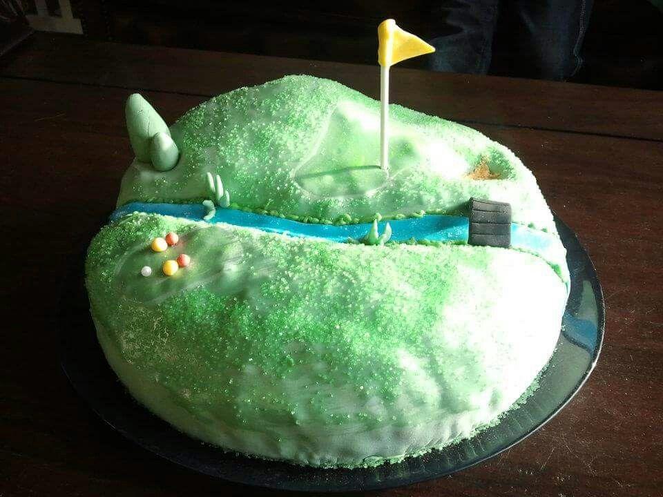 Golfcourse cake door Vera Dolstra