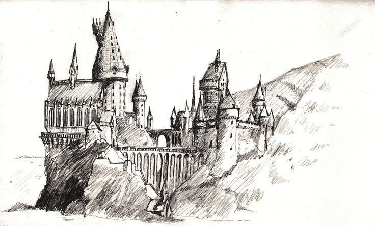 Hogwarts Zeichnung Harry Potter In 2019 Zeichnungen Harry