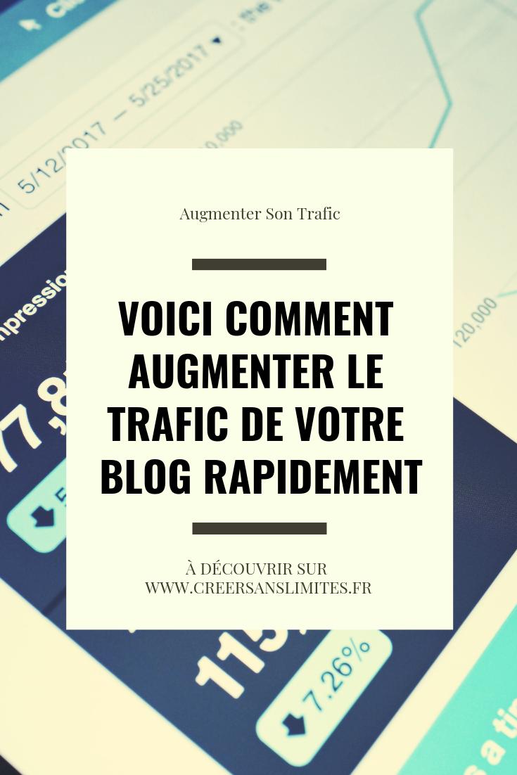 Comment Augmenter Rapidement Son Trafic Grace A Pinterest Blog Blog Sites Entrepreneur